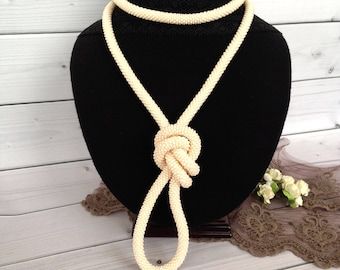 Ivori Bronze necklace Long Seed Beaded  Lariat Transformer Necklace Statement Beadwork  necklace Gift for woman Gift for her
