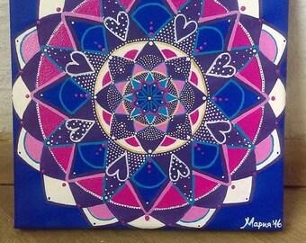 handmade mandala original painting  wall art healing
