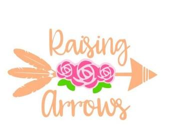 Raising Arrows Floral decal svg