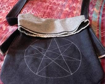 Across the body denim messanger bag