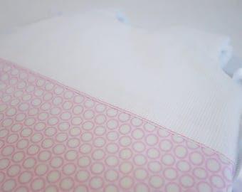 Baby sleeping bag pink circles