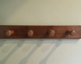 Victorian Pew Reclaimed Pitch Pine Coat Rack