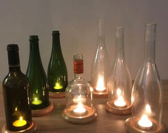 Up-Cycled Bottle Barbecue Tealight Holders