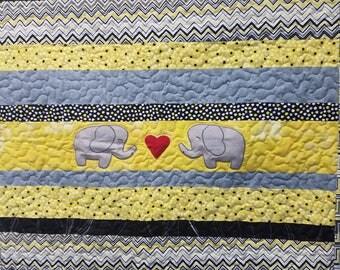 Elephant Love baby quilt