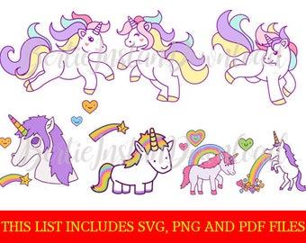 7 unicorns clipart/svg unicorn/unicorn/unicorn svg/unicorn clipart/unicorn png/unicorn pdf/unicorn clip art/unicorn svg clipart