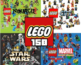 150 Lego ClipArt - Digital , PNG, image, picture,  oil painting, drawing,llustration, art , birthday,handicraft 300 DPI, 300 PPI