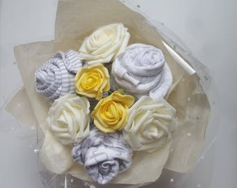 Baby Clothes Bouquet. Bespoke Baby Shower Gift. Maternity Leave. Mum To Be Gift -  Pink Blue Neutral - Orders welcome