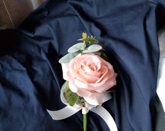 Coral Rose Boutonnire