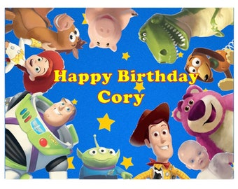 Toy Story edible cake toppers, Toy Story edible icing image, Toy Story birthday party