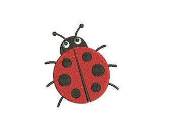 Ladybug Lady Bug  Embroidery Fill  Design Machine Embroidery Instant Download Digital File EN1048_F