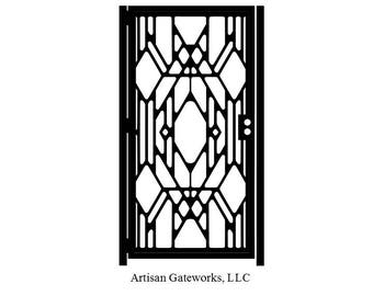 Mid-Century Modern Metal Gate - Wright III - Modern Metal Gate - Modernism - Steel Wall Art - Modern Driveway Gate - Art Deco Panel