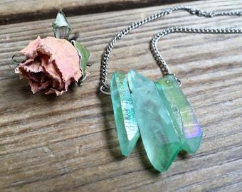 Apple Aura Quartz Necklace