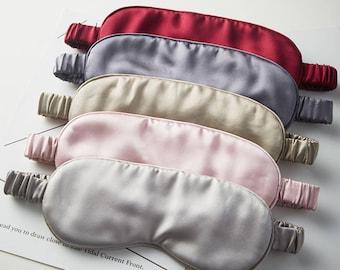 OROSE 100% Mulberry Silk Sleep Mask/ 22 Mulberry Silk Eye Mask/Silk Blindfold/Pink Silk Mask/Pink Satin Mask/Blush Sleep Mask
