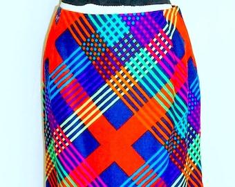 Rainbow Floral Vintage Skirt