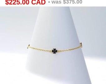 Maltese Yellow Silver Charm Bracelet