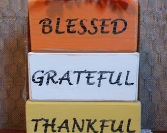 Thanksgiving Decorative Blocks