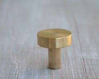 Solid brass drawer pull-Morden brass knob