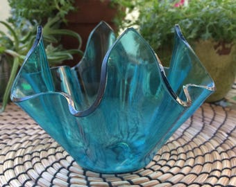 1960s Handkerchief Vase by Chance Glass