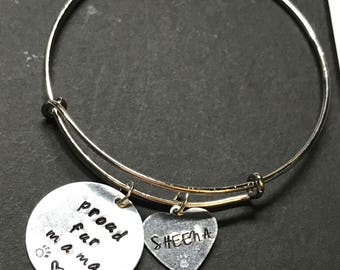 Custom Hand Stamped Proud Fur Mama Bracelet | Gifts for Her