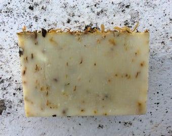 SUNNY DAYS - Organic Soap, Natural Soap, Citrus Soap, Uplifting Soap, Orange Soap, Calendula Soap, Olive Oil Soap