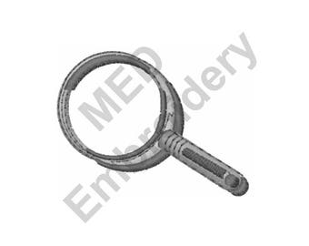 Magnifying Glass - Machine Embroidery Design