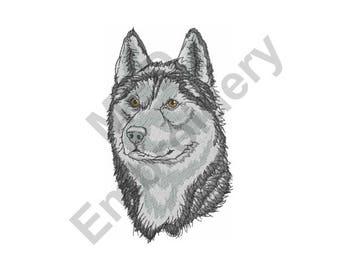 Husky - Machine Embroidery Design, Siberian Husky, Siberian Husky Head