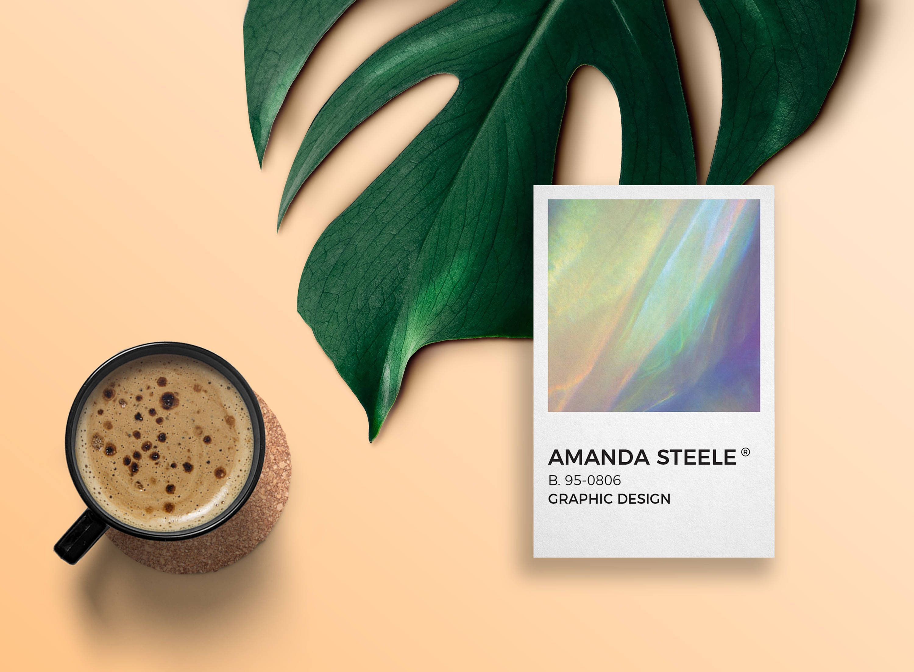 Holographic business card template / creative / card design ...
