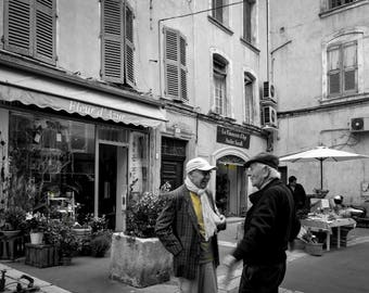 Apt, France, Travel, Fine Art Photography, Street Photography, Black and White Photography, friends