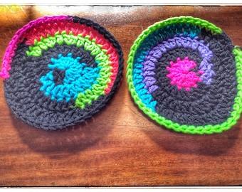 Multi-Colored Magic Circle Coasters