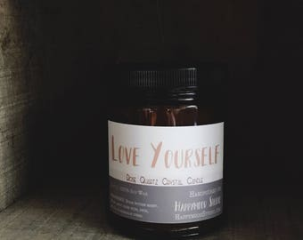 Love Yourself | Crystal Soy Candle
