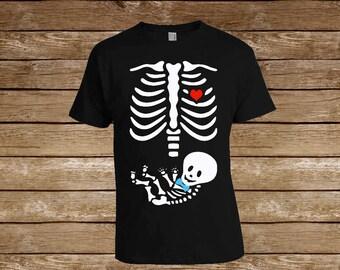 Boy Baby Skeleton Tshirt/ Family Shirts/Pregnant Gift/Pregnant/pregnancy shirts/Parent/Child Shirt/ Halloween