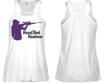 HeartShot Huntress Purple Rifle Flowy Racerback