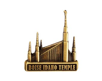 Boise Idaho Temple Gold Pin - LDS Gifts