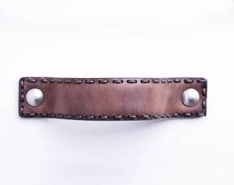 Leather handles for kitchen or closet