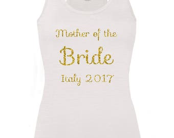 Personalised Mother Of The Bride Hen Party Vest Top