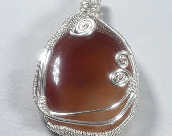 Carnelian Pendant, gift for the soul