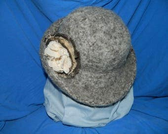 Brown Felted Wool Hat