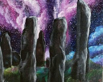 The Callanish - a galaxy painting on museum-stretch deep canvas