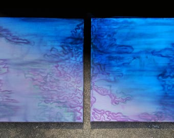 Abstract Glow in the Dark Painting