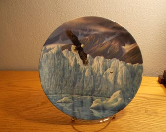 Icy Majesty Alaska The Last Frontier Collector Plate C. 1991 W.L. George