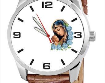 Custom clock with the Virgin Mary