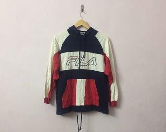 SALE ! Vintage FILA sweater big logo embroidery logo