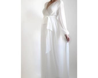 PEARL Baby Shower Dress Maternity Robe Chiffon Maternity Gown Maternity Photoshoot Dress Bridesmaid Dress Long Maternity Robe Maternity Gown