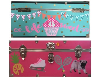 Super cute camp trunk decals