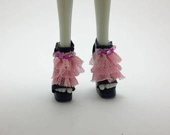 Monster High, Ever After High doll Pink and Black shoes