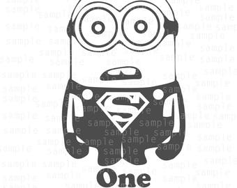 Minion svg, One in a Minion svg, Super Hero svg, Super Man svg, Super Minion svg, Minions svg, SVG, JPG, PNG, Dxf, download files