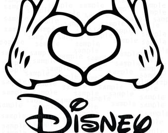 Hands Mickey Disney Hearts SVG, Mickey svg, download files, svg files, Disney svg, Disneyland svg, Mickey vector, hands svg
