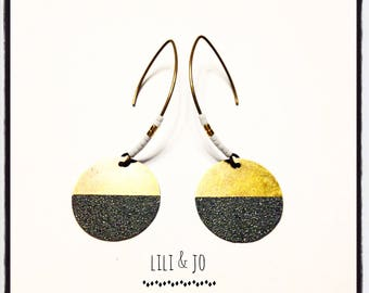 Glitter collection: round loops anthracite hippie style