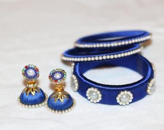 Handmade Silk Thread Bangles/Bracelets/Kadas