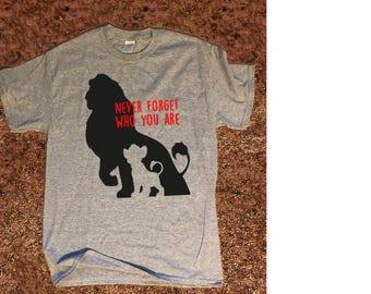 Disney Lion King shirt T-Shirt Mufasa and Simba Quote